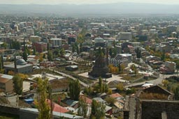 Kars, hazy from castle.