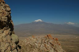 Mount Ararat, Lesser Ararat, viewed from opposite mountain.