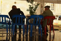 Olds, tea in a cafe in Mardin, Turkey.