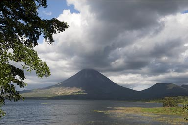 Arenal, lake and volcano, Costa Rica.