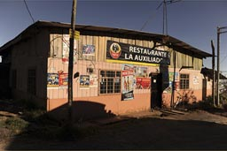 Late sun, restaurant high in the mountains near Cerro de la Muerte.