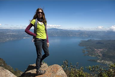 Christina, Lake Atitlan.