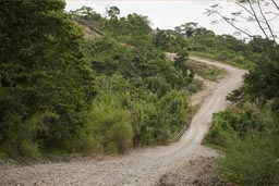 Our road is steep down, Guatemala.