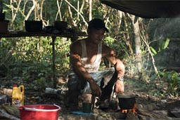 Fixxing coffee, jungle camp.