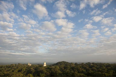 When the haze lifts over Tikal.