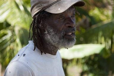 Garifuna, our false guide in Livingston.
