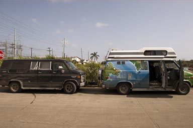 Chevy Vans in Colon, Panama.