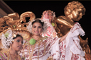 Golden queens float and queens, Las Tablas, Panama.
