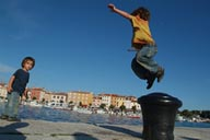 David jumps, Rovinj.
