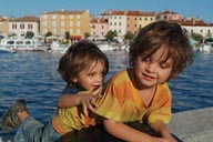 The boys, fun in Rovinj.