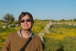 Me and the yellow flowers of Salamis.