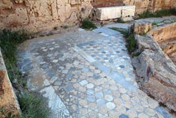 Salamis, pavement.