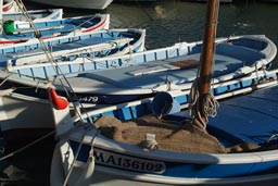 The boats of Cassis fishing port.