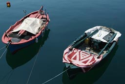 Boats in Kavala Greece.