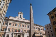 Egyptian Obelisk on Palazzo Montecitorio.