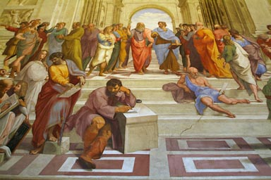 Philosophers in Signature Room, by Raphael, Vatikan Museum.