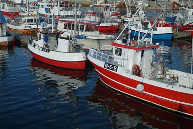 Red ships of Bodo, Norway.