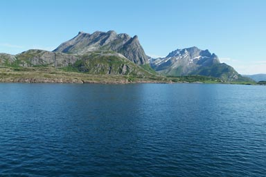 Arctic Circle Norway from Ferry.