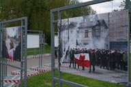 Photo exhibition, Poland revolution.