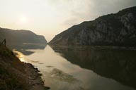 Carpathian Mountains Danube cut through. Serbia, Romania.