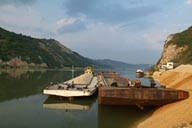 Ships on Danube. Serbia.