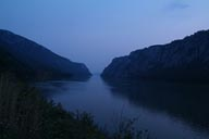 Iron Gate, Danube, Twilight.