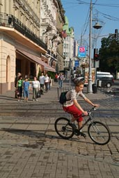Central L'viv, Lemberg. Bicycle