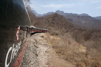 Chihuahua al Pacífico, Chepe train up Copper Canyon.