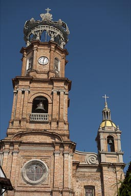 Church tower of Puerto Vallarta, Our Lady of Guadalupe' church.