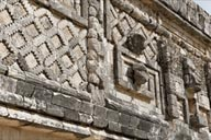Nunnery Quadrangle, mosaic like works, Uxmal.