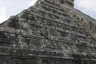Chichen Itza. Western reconstructed side.