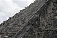 Detail west steps, Chichen Itza.