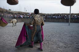 Torero, Bull fighting arena, Rio Lagartos, Mexico