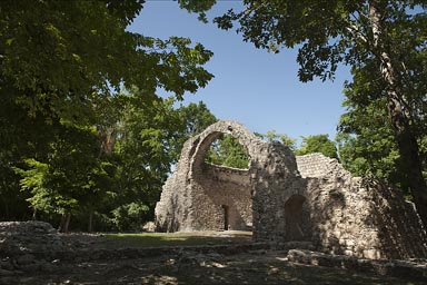 Spanish Chapel in the middle of Maya  Oxtancah.