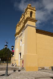 Yellow church in Comitan, Chiapas.