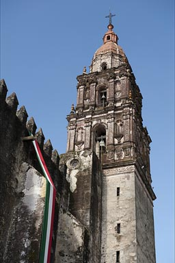 Cuernavaca, Cathedral tower.