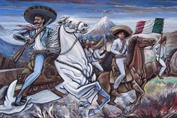 Emiliano Zapata Mural in Anenecuilco, the Zapata museum, his birthplace.