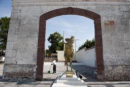Emiliano Zapata statue on horse, Chinameca, Morelos, Hacienda de San Juan, where he was shot.