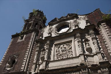 San Fernando Franciscan church, Mexico City.  Benito Juarez is buried in its back yard.