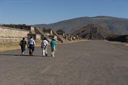 Avenue ofthe Dead, Pyramid of the Moon, Teotihuacan.