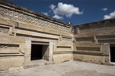 Mitla, Zapotec post classic archeological site.