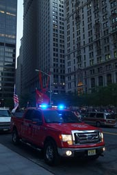 NYPD/FDNY red truck.