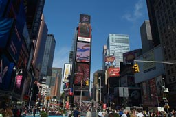 Times Square mid day.
