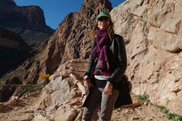 Christina Bright Angel Trail.