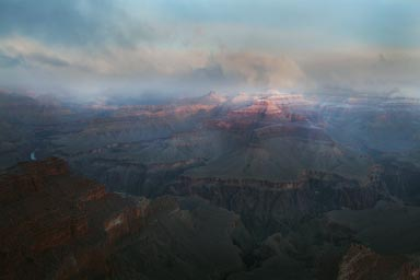 Grand Canyon, morning and clouds.