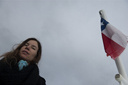 C. and Chilean flag, Beagle channel crossing.