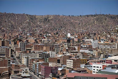 Shot from rooftop of my hotel, La Paz, Bolivia.