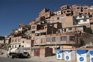 Outskirts, up on the canyon walls, La Paz, Bolivia.
