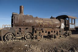Rusting away, 100 year old steam engines, train cementry, Uyuni.