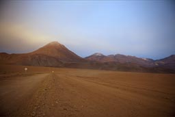 In front of a volcano, north of San Pedro de Atacama, 4,300m..
